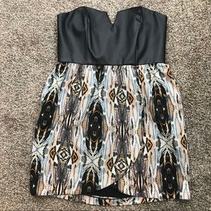 5|48 Saks Fifth Avenue strapless mini dress